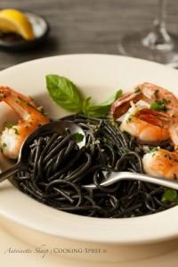 Squid-ink pasta