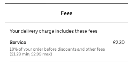 delivery charge uber